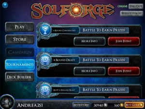 SolForge Tournament Listing