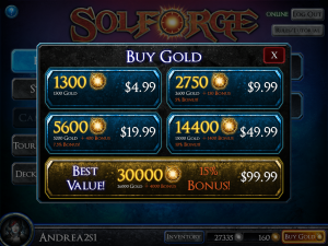 SolForge Buy Gold